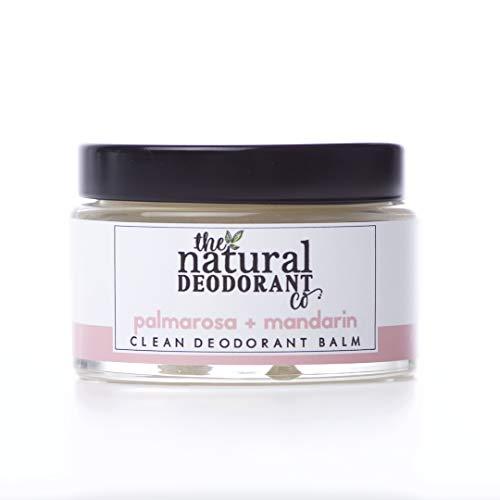 Clean Deodorant Balm Palmarosa + Mandarin 55g by The Natural Deodorant Co. - Certified cruelty-free and vegan, plastic-free, ultra-effective 24hr deodorant balm