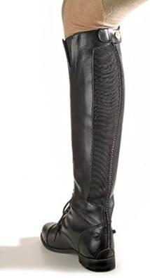 Devon-Aire Womens Camden Zip Back Leather Field Boot