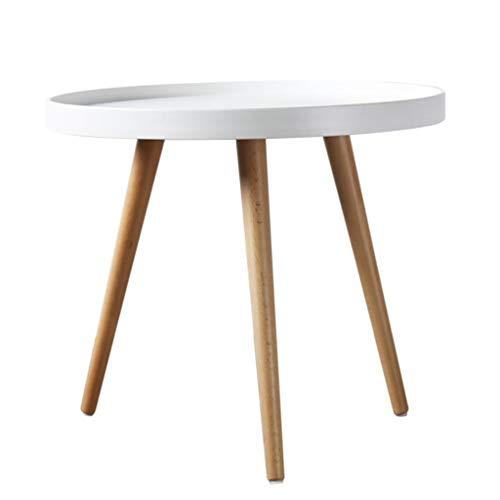 LYN Bijzettafel, ronde salontafel met natuurlijke eikenhouten poten woonkamersofa multifunctionele kant
