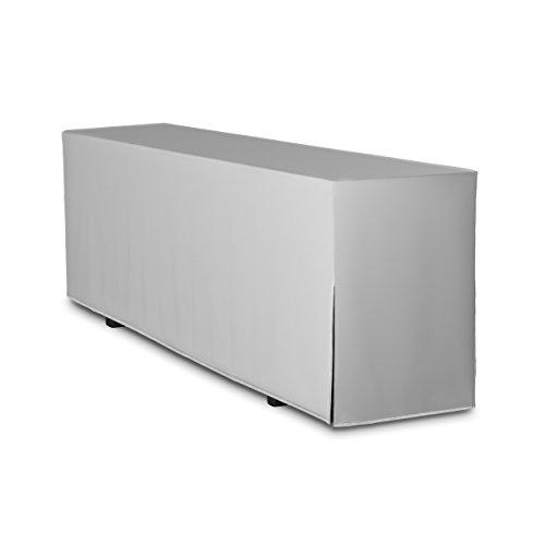 TexDeko Biertischhusse Premium (nur Tisch 220cm) (70cm, Grau)