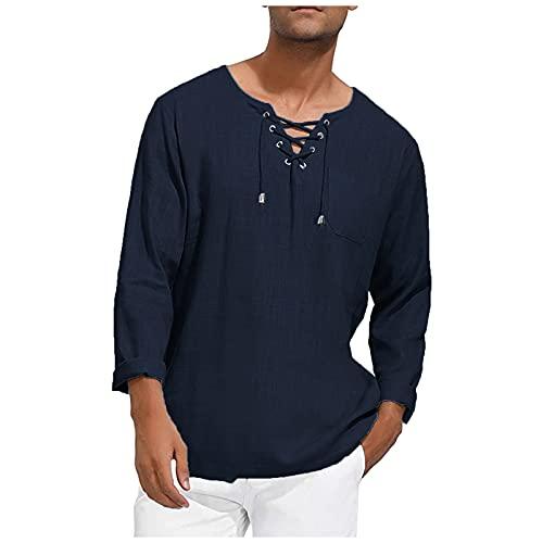 EVAEVA Polos Manga Larga Hombre de Camisas Slim Fit Túnica Deporte Golf Polo Primavera Otoño T-Shirt Oficina con Bolsillos Camiseta para Hombres Diario Correr Tops para Primavera Verano y Otoño