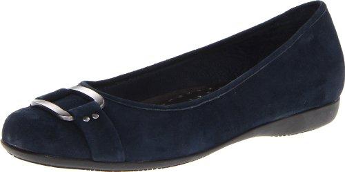 Trotters Women's Sizzle Flat,Dark Blue,6 W US