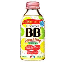 エーザイ チョコラBB スパークリング キウイ&レモン味 140ml瓶×24本入×(2ケース)