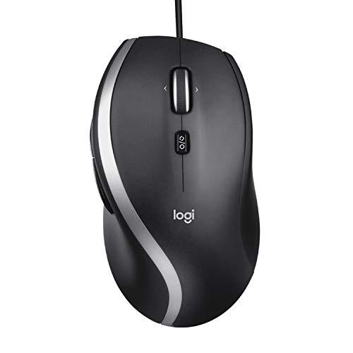 Logitech M500s Ratón avanzado con cable con desplazamiento superrápido avanzado e inclinación, botones personalizables, seguimiento de alta precisión con cambio de dpi, Plug and Play USB - Gris