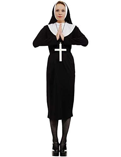ORION COSTUMES Costume da donna travestimento abito da suora nero