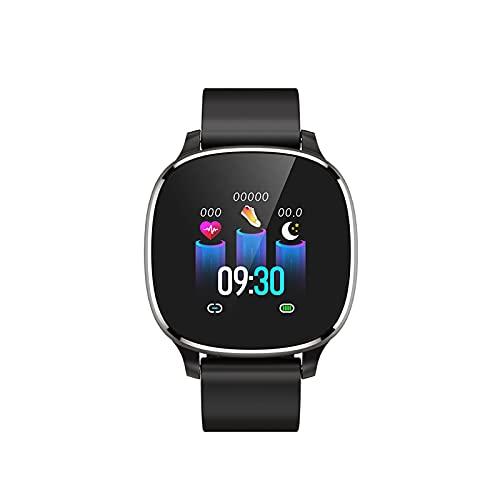 PYAIXF Podómetro Monitores, Impermeable Manejo del Estrés Seguimiento De Natación Deportes Bluetooth Podómetro Presión Arterial por La Salud del Corazón 3 Colores-Black