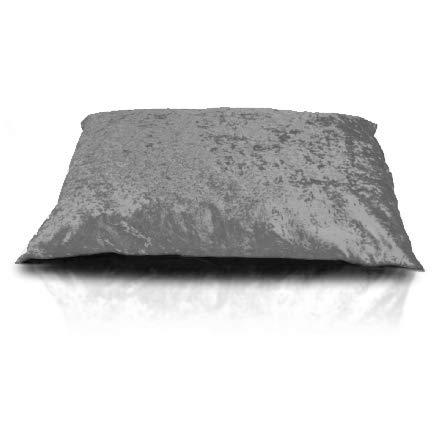 Rohi Medium & Large Dog Bed Cushion Washable Zipped Mattress Cover (Medium 60cm x 80cm, Grey)
