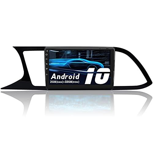 AWESAFE Android 10.0 2GB+32GB Radio Coche para Seat Leon MK3 2012-2020, 9 Pulgadas Pantalla Táctil, con WiFi/GPS/Bluetooth/DSP/RDS/USB/FM Am/RCA, Apoyo Mandos del Volante, Aparcamiento, Mirror Link