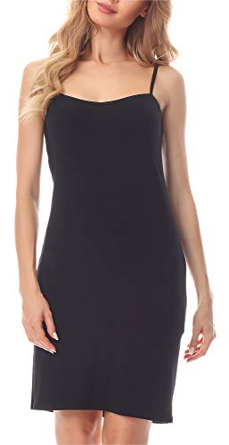 Merry Style Combinación Vestido Interior Mujer MS10-203 (Negro, XXL)