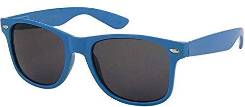 Boolavard TM Sonnenbrille Nerdbrille retro Art. 4026 (Dunkelblau Tönung)