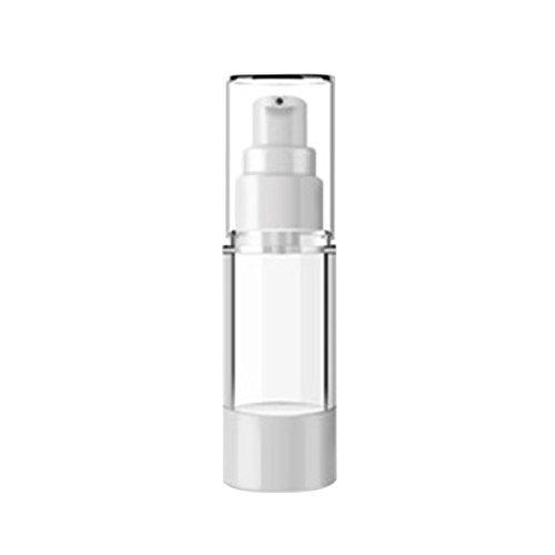 Deamrkt - 1 Unidad de 100 ml vacía rellenable de Color Blanco acrílico Airless Vakuumpumpe Crema Lotion Foundation Flasche Dispenser Vial Reisecreme Lotion Toner Container Olla