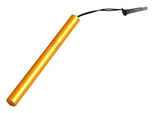 System-S Mini Stylus Touch Pen kapazitiver Bildschirm Eingabe Stift in Gold für Handy, Smartphone, Tablet PC