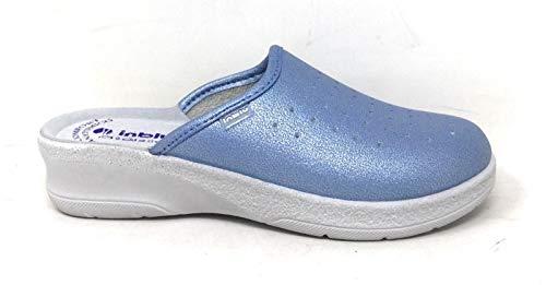 inblu Pantofole Ciabatte SANITARIE Donna MOD. 50-33N Azzurro (35 EU)