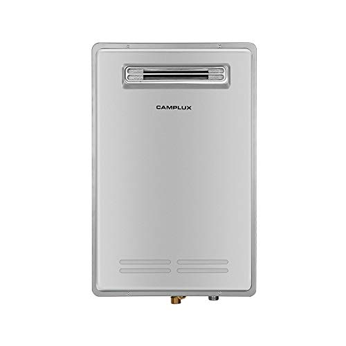 Camplux Pro Residential Tankless Water Heater,5.28 GPM High Efficiency On-Demand Propane Water Heater,Propane Constant Gas Water Heater for 3-4 Persons Whole House,Outdoor Installation,Grey