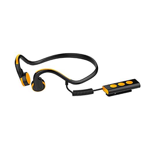 YPJKHM Auriculares Bluetooth Estéreo Auriculares Estéreos Delgados para Coche, Montados en la Parte Trasera, Auriculares Deportivos Inteligentes Bluetooth para Deportes al Aire Libre-Orange