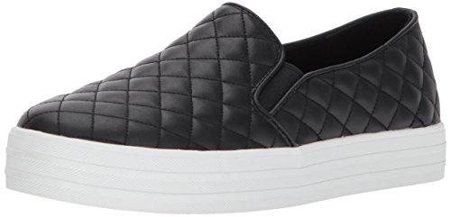 Skechers Double Up-Duvet, Zapatillas sin Cordones Mujer, Negro (BLK), 40 EU