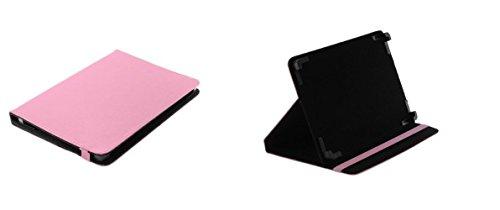 Markenlos Bookstyle Hülle Book Hülle Pink + Standfunktion Medion LifeTab X10607 Tablet schwarz (MD 60658)