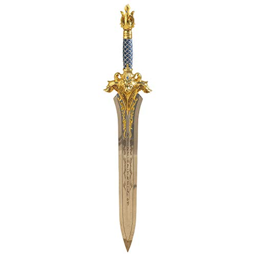 Amont Mini-Schwert World of Warcraft inoffizielle Replik King Llane Schwert aus Edelstahl und Metallgriff mit 51 cm Klinge - Stumpfes dekoratives Schwert