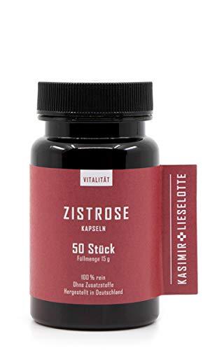 CISTUS INCANUS/ZISTROSE Kapseln - 50 Stück - frei von Pflanzenschutzmitteln oder anderer chemischer Zusätze