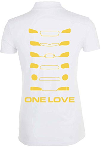 Desconocido One Love Rally Cross Cars Racing Polo de Mujer