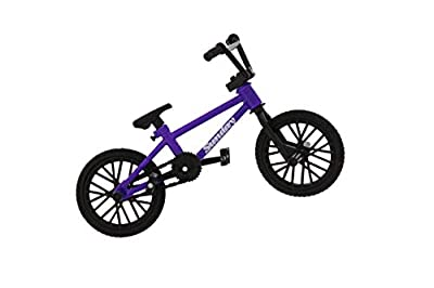 Spin Master BMX Finger Bike Series 13, Sunday - Replica Tech Deck Bike with Real Metal Frame, Graphics, and Moveable Tech Deck Parts for Flick Tricks, Flares, Grinds, and Finger Bike Games - Purple