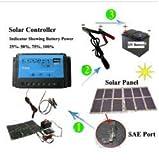 Gowe Chargeur à énergie solaire Sac à dos 60W Kit Panneaux solaire pliable 12V voiture/rv/camion/bateau Chargeur de batterie chargeur pour ordinateur portable