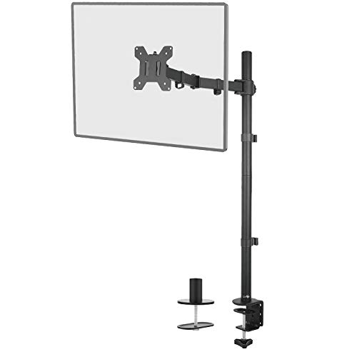 WALI Extra Tall Single LCD Monitor Fully Adjustable Desk Mount Fits 1 Screen up to 27 inch 22lbs Weight Capacity M001XL Black
