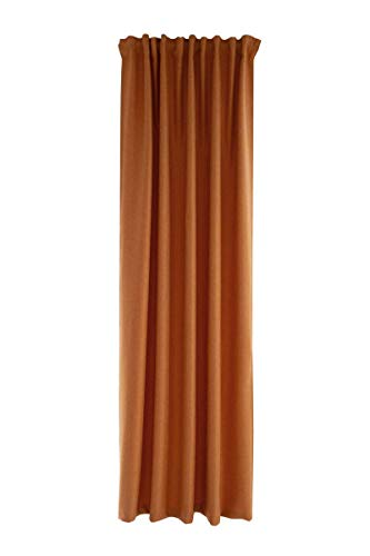 Homing Opaque Curtain Plain Brick (Pack of 1) 245 x 140 cm (H x W)