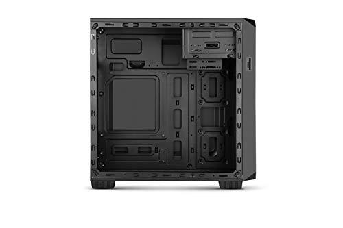 Nox Coolbay MX2Mini-Tower schwarz–PC-Gehäuse (Mini-Tower, PC, 1x 120mm, Metall, Kunststoff, ATX, Micro-ATX, microSD (Transflash), SD)