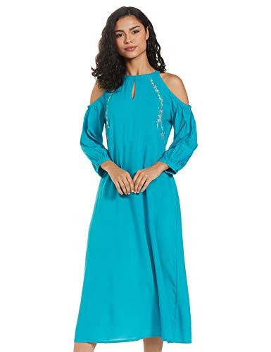 Amazon Brand – Eden & Ivy Women's Rayon Empire Maxi Dress