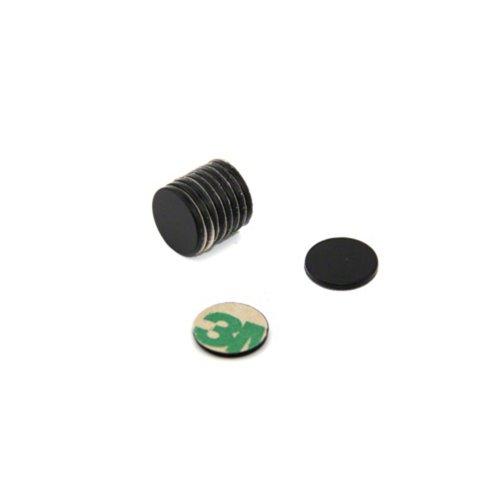 Magnet Expert Adhésif Ø 10 mm x 1 mm N42 époxy noir Aimant - 0.58 kg Pull (Sud) (paquet de 10)