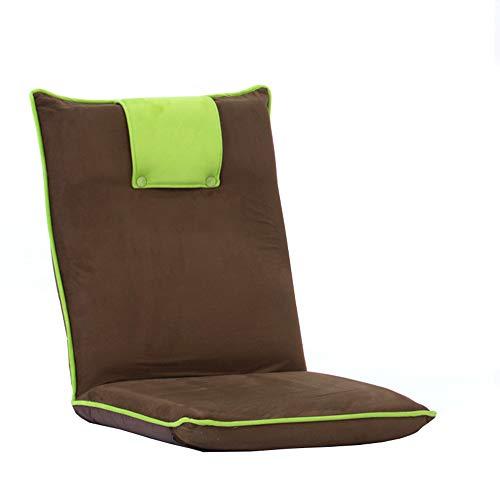 LJFYXZ Canapé Paresseux Chaise Chaise d'ordinateur canapé Réglage à 5 Vitesses Facile à enlever et à Laver Doux et Confortable Salon Chambre Coussin (Couleur : Green)