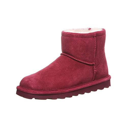 BEARPAW Women's Slouch Boots, Red Bordeaux 620, 4 UK