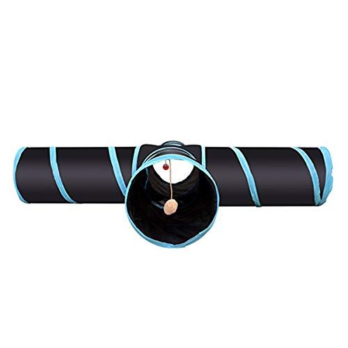 Nicoone Túneles para Gatos Túneles Plegables de 4 Vías Juguetes para El Hogar del Animal Doméstico del Gato con Bola de Mirilla Tubo Al Aire Libre para Gato Cachorro Gatito Gatito Conejo