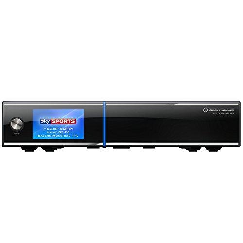 GigaBlue UHD Quad 4K + Twin DVB-C/T2 Tuner Sat-/Kabel-/Terr.-Receiver, schwarz
