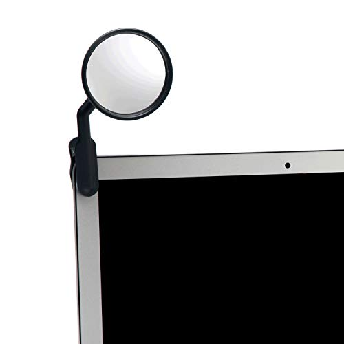 Peleg Design Watch-It Clip On Cubicle Mirror, Computer Rear-View Mirror, Convex Mirror for Personal Safety or Security Cabinet Desk Rear-View Monitors Blind Spot Mirror