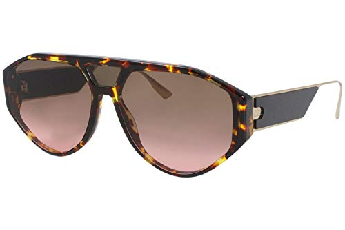 Sonnenbrillen Dior DIOR CLAN 1 DARK HAVANA/BROWN PINK SHADED Damenbrillen