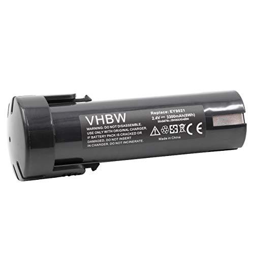 vhbw Akku kompatibel mit ABB SDF-AK210 Elektrowerkzeug (3300mAh NiMH 2,4V)