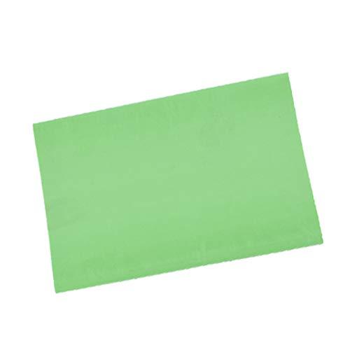 perfeclan Bloque de Caucho con Grabado en 4 Colores Corte de Bloque Fácil de Impresión Bloque de Tallado - Material Suave Similar Al Caucho, Azul, 15 X 10 X 0,6 - Verde Claro Blanco, Individual