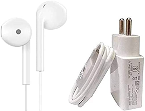 Datalact Wall Charger Accessory Combo for All VIVO Mobile Phones White with Earphone