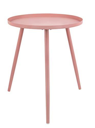 Present Time - Table d'appoint métal Rose Large Elle Ø45 cm