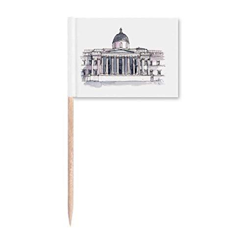 National Gallery in London Zahnstocher Flaggen Marker Topper Party Dekoration