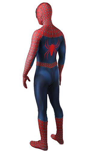 LuckB Superhero Spandex Costume Cosplay 3D Zentai Full Bodysuit Halloween Adult/Kids 3D Style