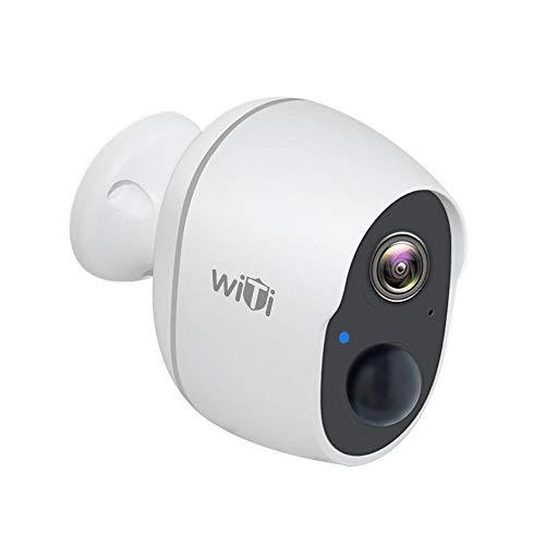 WiTi Cámara de Batería Recargable, Cámara de Seguridad Inalámbrica WiFi para el Hogar, Detección de Movimiento PIR Preciso y Visualización Remota, Monitor de Bebé con Audio de Dos Vías