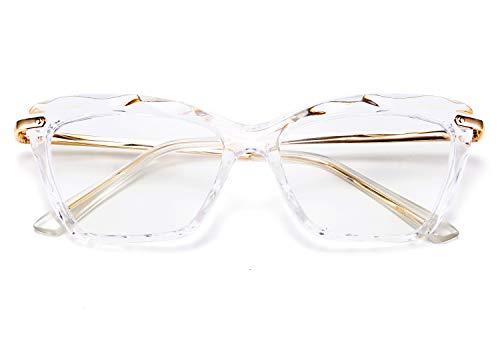 FEISEDY Retro Crystal Cat Eye Reading Glasses Blue Light Blocking Reading Glasses Anti Glare Digital Eyestrain Reader B2596