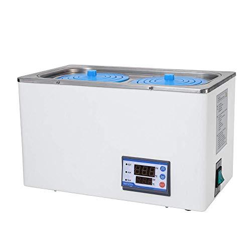 SEAAN Digitales Laborwasserbad, 600 W Thermostatisches Doppeltank-Wasserbad RT bis 100 ° C Laborgerät Elektrisches Temperaturanzeige-Wasserbad