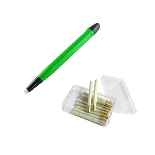 WITTKOWARE Glasfaser-Radierstift, 4mm, mit 12 Ersatzpinseln