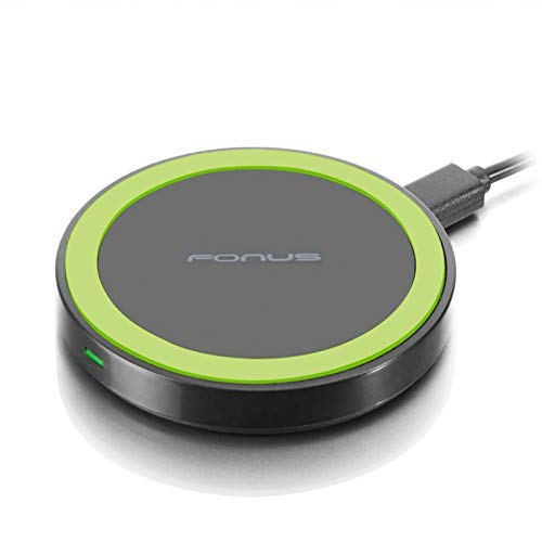 Compact Wireless Charger 10W Fast Charging Pad Compatible with Kyocera Hydro Elite C6750 - LG G6, G7, G8 ThinQ, V50, V40 ThinQ, V35 ThinQ, Google Nexus 6 5 4 - Motorola Droid Turbo Mini