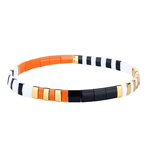 KANYEE Bracelets élastique Bracelets D'amitié Fait Main Bracelets Perlés Tila Bracelets Breloques De Mode pour Femme – 9A
