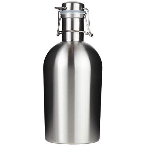 Trenton Gifts Stainless Steel Leak Proof Flip Top Growler | Holds 2 Liters!